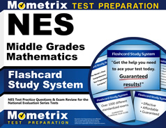 Nes Middle Grades Mathematics Flashcards With Nes Middle border=